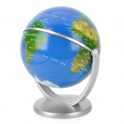 10cm All-Direction Rotation English Map Administrative Globe - Silver + Blue