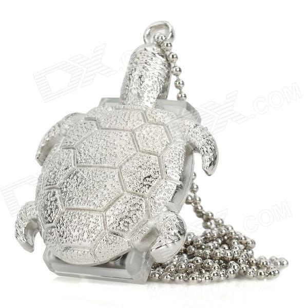 Tortoise Style Stainless Steel USB 2.0 Flash Drive - Silver (4GB)