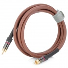 FUJICABLES 1-RCA Male to Male Connection Audio Cable - Brown (200cm)