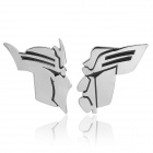 3D Cool Transformers Pattern Metal Car Decorative Sticker - Silver (2-Piece)