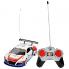 01.18 Mini 27MHz 4-CH R / C Racing Car - Weiß + Rot (4 x AA / 2 x AA)