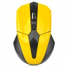A307 2.4GHz 800 / 1000 / 1600dpi Wireless Red Optical Mouse - Black + Yellow (2 x AAA)