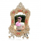 Europe Country Style Resin Rose Photo Frame - White + Pink (148 x 100mm)