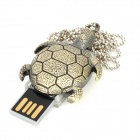 Estilo Tortuga de acero inoxidable USB 2.0 Flash Drive - Cobre (4GB)