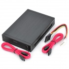 "Olmaster OI-HE-2005 2 x 2.5"" SATA HDD Case w/ 2-LED Indicator - Black"