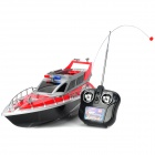 Mini Rechargeable Radio Control 4-CH R/C Speed Boat - Red + Black
