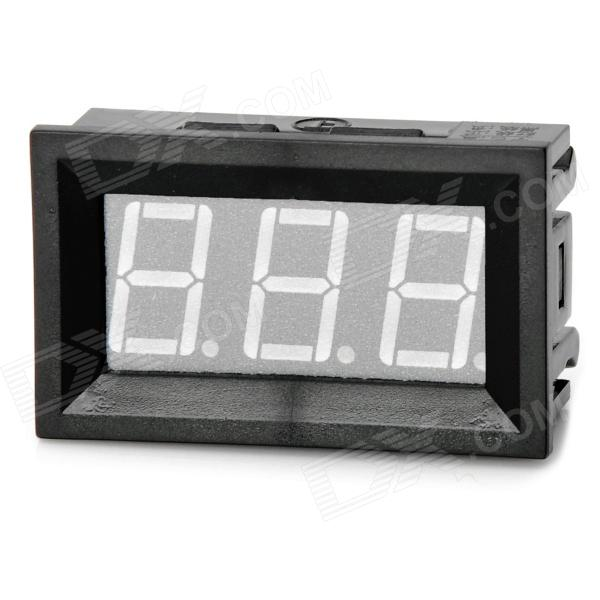 Mini 3-Digit Blue Display Digital Voltmeter Module (4.5~30V) 0 36 3 digit blue light 7 segment voltmeter module black green 3 2 30v