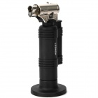 1300'C Dual Flame Stainless Steel Butane Jet Torch Lighter - Black + Silver