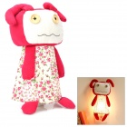 L4-006-4 Cute Cartoon Style 1-LED Wall Lamp w/ US Plug - Red + White