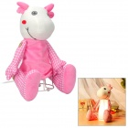 L6-093-3 Cute Dragon Style Night Light w/ 2-Flat-Pin Plug - Pink + White