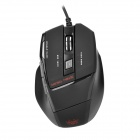 AULA Killing The Soul USB Wired 800 / 1600 / 2000 DPI 7D Gaming Optical Mouse - Black