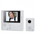 "GuangZhen SH1001 2.8"" Screen 300KP Camera Video Door Phone Set - White"