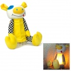 Cute Pig Doll Style Night Lamp - Yellow + Black + White