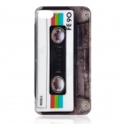 Retro Cassette Tape Style Protective PC Back Case for Iphone 4 / 4S - White + Grey