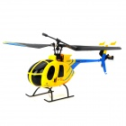 2.4GHz 2.2'' LCD Radio Control Rechargeable 4-CH R/C Helicopter w/ Gyroscope - Yellow + Black + Blue