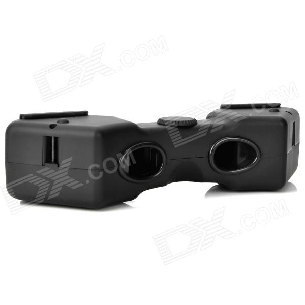 Fashion Computer PC Stereoscope Viewer 3D Stereo Movie Glasses - Black