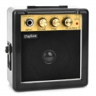 Portable 3'' Mini Guitar Amplifier w/ Removeable Belt Clip - Golden + Black (9V Battery)