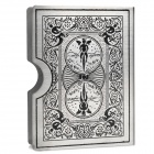 Tiger Pattern Bicycle Guardian Poker Playing Cards Deck - Silver