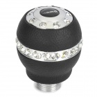 MOMO Aluminium Alloy Rhinestone Car Gear Shift Knob - Black