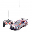 QJ1207010 Cool Rechargeable 4-CH R/C 1:16 Model Racing Car - Red + Blue (6 x AA / 2 x AA)