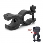 360 Degree Rotation Cycling Bicycle Mount Holder Clamp for Flashlight Torch - Black