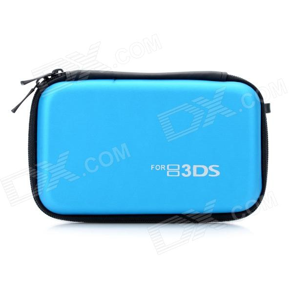 Protective Hard Artificial Leather Carrying Pouch for Nintendo 3DS - Light Blue 28 in 1 game memory card case holder storage box for nintendo 3ds xl