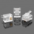 RJ11 6P4C modular plug Telephone Connectors - branco (100-Piece Pack)