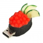 HD-0103 Roe Sushi-Stil USB 2.0 Flash Drive - Schwarz + Rot (16GB)