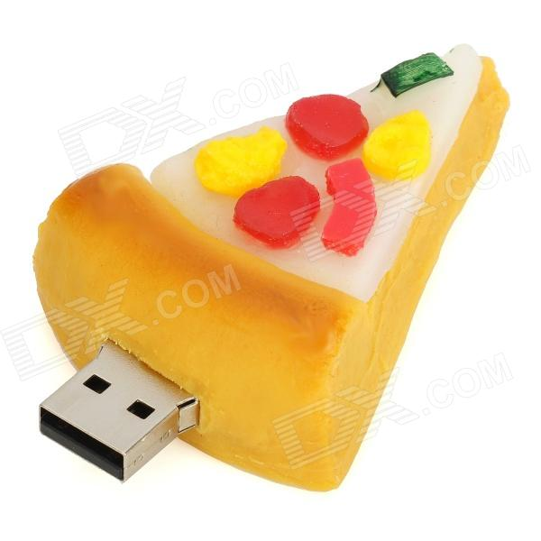 HD-0102 Pizza Style USB 2.0 Flash Drive - Yellow + White + Red (16GB)