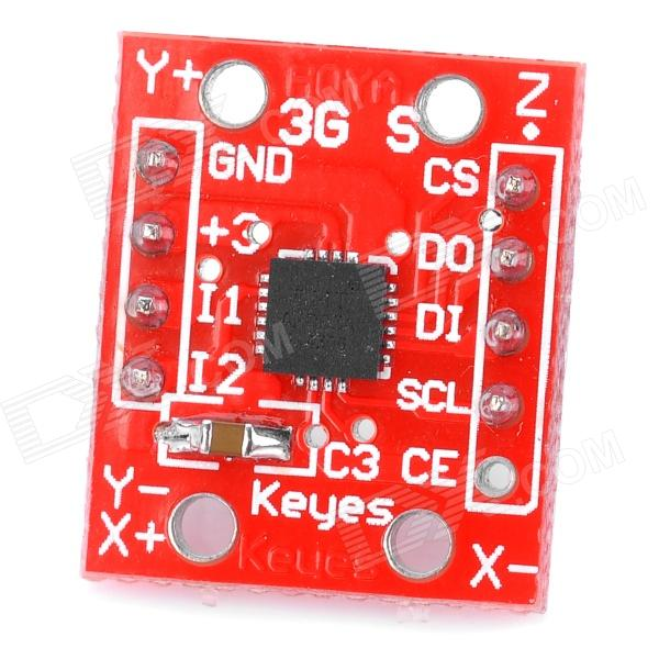 3-Axis Accelerometer Sensor Module for Arduino (Works with Official Arduino Boards) photo interrupter sensor module for arduino works with official arduino boards