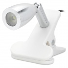 TY-907 USB Powered 1-LED White Light Lamp w/ Clip - White (DC 5V/160cm)