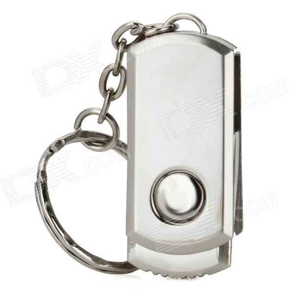 Aluminum Rotation USB 2.0 Flash Drive Keychain - Silver (2GB) от DX.com INT
