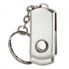Aluminum Rotation USB 2.0 Flash Drive Keychain - Silver (2GB)