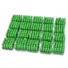 Straight Wall Screw Anchors Kit - Green (500-Pieces Pack)