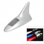Solar Powered Shark Fin Style Safety Alarm LED / Anti-Rear-End Caution Light - Silver