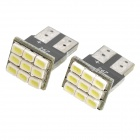 T10 2.5W 6x5050 SMD White LED Car Brake / Backup / Headlamp / Decoration Light (12V / 2-Piece)