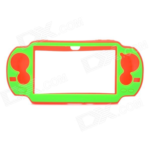 Protective Silicone Cover Case for Sony PS Vita - Green + Red