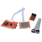 "PTi8 Mini PCI-E / Mini PCI / LPC Motherboard Diagnostic Card w/ Dual 1.7"" LCD Display - Red + Black"