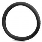 Silicone Car Steering Wheel Cover - Black (36~40cm)