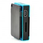 Rechargeable Screen Free MP3 Player w/ TF Slot / 3.5mm Jack - Blue + Black