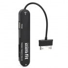 Micro SD / M2 / SD / SDHC / MS / MS Pro Card Reader / Hub for Samsung P7500 / P3100 / P7510 - Black