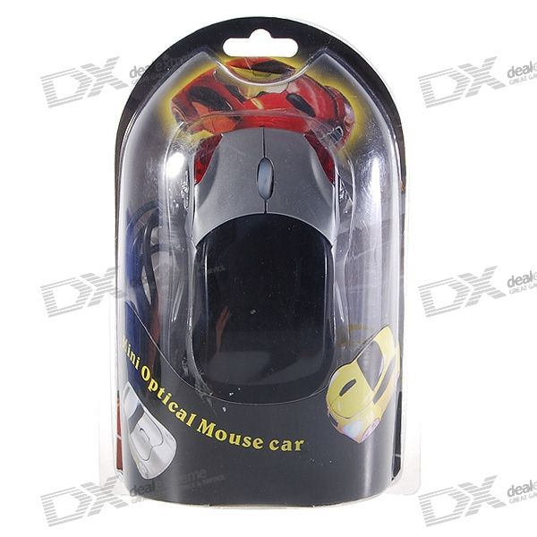 Car Shaped 1000-DPI USB 2.0 Optical Mouse