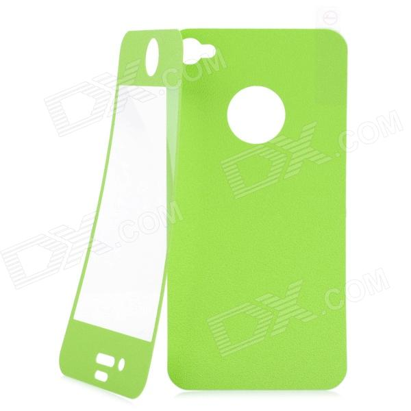Matte Protective Front + Back Cover Skin Sticker for Iphone 4 / 4S - Green new star wars power stormtrooper skin sticker for xbox one console 2pcs controller skin kinect protective cover