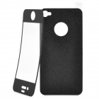 Matte Protective Front + Back Cover Skin Sticker for Iphone 4 / 4S - Black