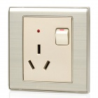 PHILIPS Q8 Power Socket Switch w/ Indicator Lamp - Silver (AU Plug)