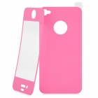 Matte Protective Front + Back Cover Skin Sticker for Iphone 4 / 4S - Pink