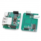 FR160B PCB 2-Layer USB Portable Power Module - Green (3.5 x 2.4 x 1.1cm)