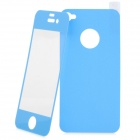 Matte Protective Front + Back Cover Skin Sticker for Iphone 4 / 4S - Blue