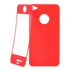 Matte Protective Front + Back Cover Skin Sticker for Iphone 4 / 4S - Red