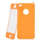 Matte Protective Front + Back Cover Skin Sticker for Iphone 4 / 4S - Orange